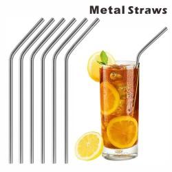 MS12 Bent Metal Straws,...