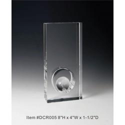 DCR005 Globe Award Crystal...