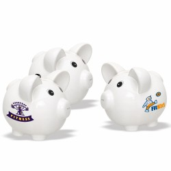 DPB02 White Ceramic Piggy...