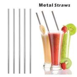 MS10 Straight Metal Straws,...