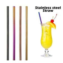 MS02 Straight Metal Straws,...