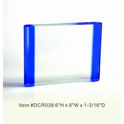 DCR038 Blue Rectangle...
