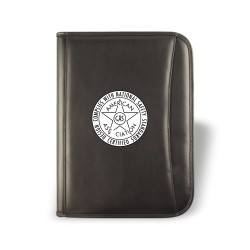 DPO12  Zippered Padfolio,...