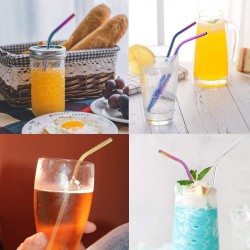 Sms03 Bent Metal Straws 8 5 Inch Length 0 25 Inch