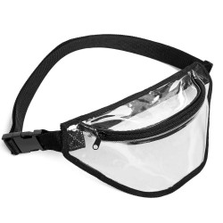 2-Zipper Clear Fanny Pack